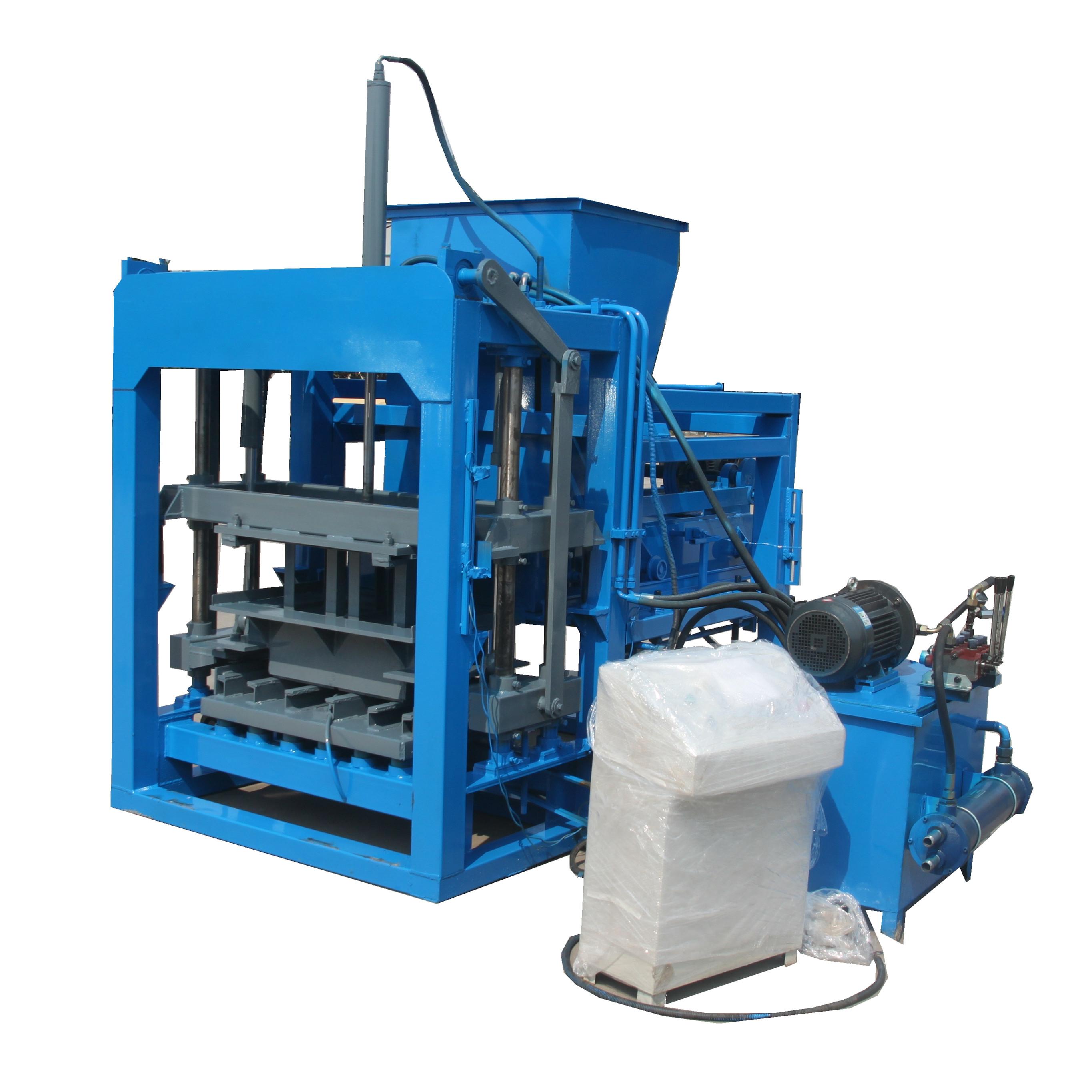 QT4-28 Semi automatic hydraulic block making machine Featured Image