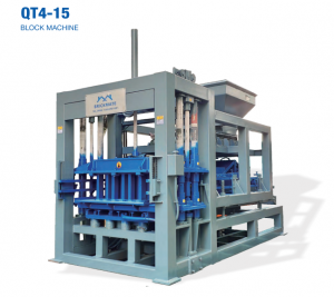 QT4-15C automatic concrete paver brick making machine
