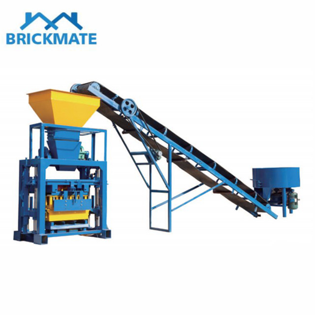 QT40-1 Semi auto cement block brick making machine Featured Image