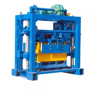 QT40-2 manual concrete hollow block making machine