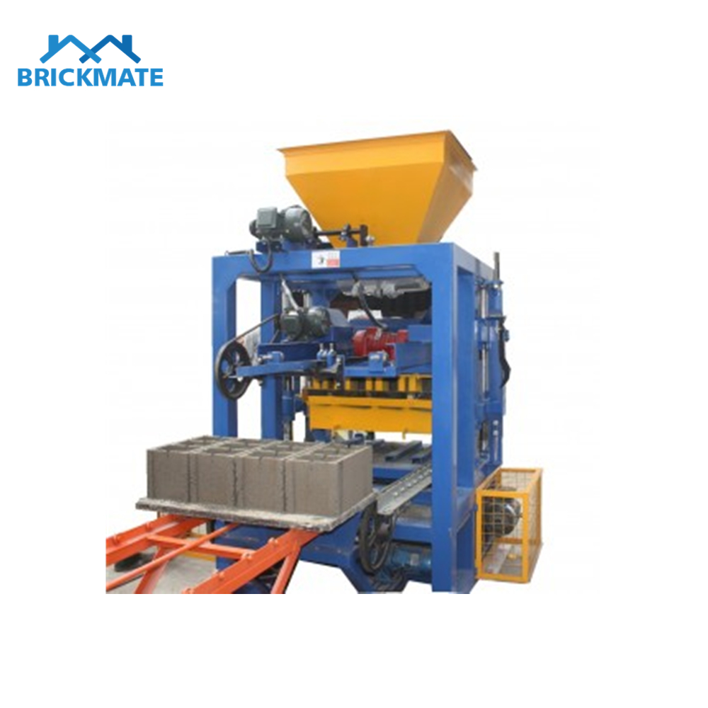 QT4-24 Semi auto concrete hollow block solid paver brick making machine Featured Image